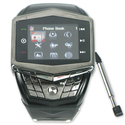 Touch screen watch mobile with camera