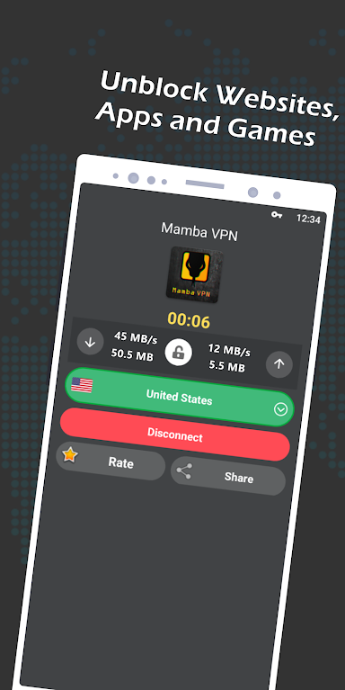 Mamba VPN - Access Unblocked Websites, Apps and Games